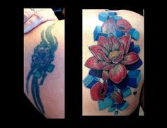 before and after tattoo cover ups | Flower Coverup Tattoo : Tattoos :