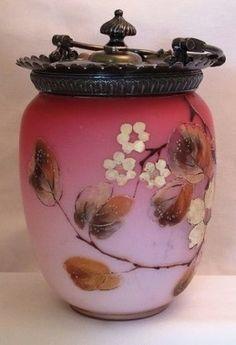 Satin Glass Biscuit Jar