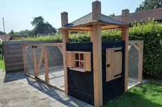 Gazebo, Pergola, Rabbit Hutches, Safe Place, Diy And Crafts, Outdoor Structures, Chicken, House, Chicken Pen