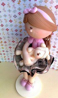 Menina fazendinha by Sonho Doce Biscuit *Vania.Luzz*, via Flickr porcelana fria polymer clay