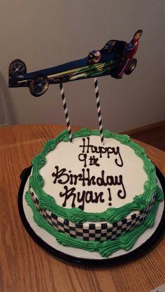 Jr dragster birthday cake