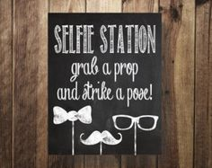 Snowflake Selfie Station Sign Grab a Prop Strike by TheDoodleCoop
