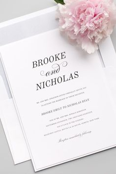 Looking for wedding invitations that are both classic and romantic? Click to personalized our Classic Romantic suite!