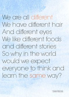 We are all different!