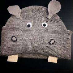 DIY Hippopotamus beanies for the Christmas program: I want a hippopotamus for Christmas!