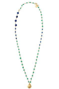 La Folie Necklace- love the green and lapis!  Also available in purple!  Shop at www.stelladot.com/kellyhammontree, Kelly Hammontree Independent Stylist