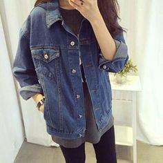 Buy Fashion Street Denim Jacket at YesStyle.com! Quality products at remarkable prices. FREE WORLDWIDE SHIPPING on orders over US$ 35.