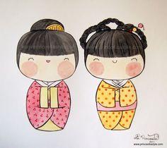Kokeshi Doll Art