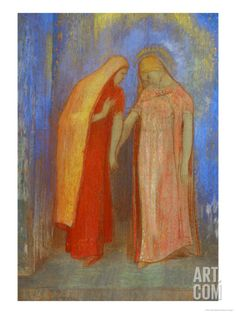 The Visitation Giclee Print by Odilon Redon at Art.com