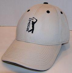 db792917442 PGA Tour IBM Shotlink Men s The Game Brand Khaki Baseball Strapback Hat  Knost  TheGame  BaseballCap
