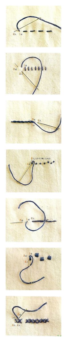 Embroidery stitches made simple Diy Embroidery, Cross Stitch Embroidery, Embroidery Patterns, Sewing Hacks, Sewing Crafts, Sewing Projects, Sewing Tips, Embroidery Techniques, Sewing Techniques