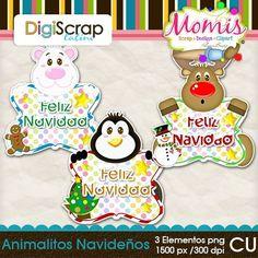 Animalitos Navideños - $1.50 : DigiScrap Latino