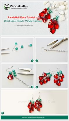 PandaHall Inspiration Project---Heart Glass Beads Dangle Earrings Wanna do some jewelry for the coming Valentine's Day? Then follow me to try this red heart glass bead dangle earrings which are easy to make. PandaHall Beads APP is on, download here>>>goo.gl/jLxpjp 2018 New Year Sale: UP TO 75% OFF,FREE SHIPPING over $349 from Jan 2-23, Free Coupons: PHENPIN5 (Save $5 for $70+) PHENPIN7(Save $7 for $100+) #PandaHall #diyearrings #glassbeads #pendants #dangle #earrings #heart #jewelrymaking