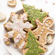 GF & Vegan Sugar Cookies are perfect for the holidays. Easy to make, healthy, nut-free & topped with a naturally colored green icing!