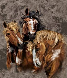 Horses are wonderful animals and it's easy to see why someone would fall in love with them. A unique horse gift is a great surprise for anyone who's horse crazy. Growing up, my sister rode horses competitively. Horse Mural, Horse Artwork, Hidden Art, Hidden Images, Painted Horses, Bev Doolittle, Native American Horses, Art Occidental, Cool Optical Illusions
