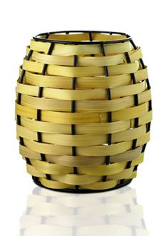 Natural Flat Weave Basket Shade - Yellow $25
