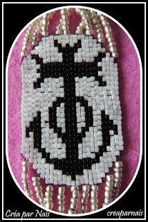 bracelet croix camargaise en perles japonaise    Créa Par Naïs: Nouveautés faites sur commandes