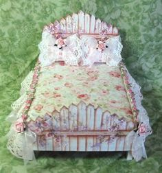 Picket Fence Shabby Chic Bed by Tolefairy.  It's snot a picket fence around the yard or garden...but this is adorable.