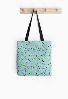 'Mixed Dot Design' Tote Bag by Shane Simpson Large Bags, Small Bags, Cotton Tote Bags, Reusable Tote Bags, Dots Design, Medium Bags, Iphone Wallet, Shopping Bag, Retro