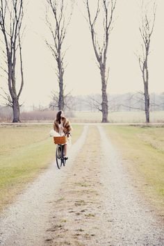 reminds me of my daughter, she loves to pretend and ride her bike