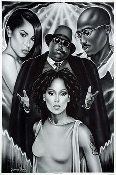 aaliyah, left eye, biggie, tupac