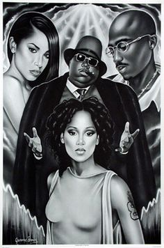 aaliyah, left eye, biggie, tupac