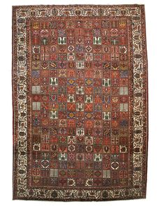 HAND KNOTTED WOOL PANEL BAKHTIAR RUG, 15' 9 X 23'