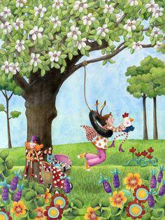 Cuaderno de viaje: Pequeñas cosas que nos hacen sentir muy bien 17. Dream Illustration, Simple Acrylic Paintings, Naive Art, Mother And Child, Cartoon Art, Pixel Art, Amazing Art, Watercolor Art, Illustrators