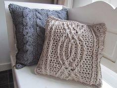 gehaakte kussens - crochet cushions