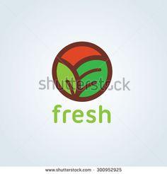 Fresh,Organic logo,Vector Logo Template