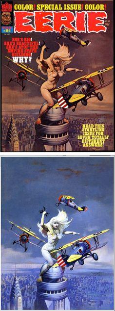 FRANK FRAZETTA - Eerie #81 - Feb 1977 Warren Publications - print/cover by Google