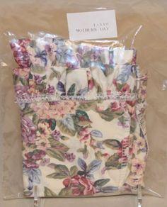 Ebay $14.99 1992-Longaberger-Mothers-Day-Basket-English-Garden-SU-Liner-New-in-Bag