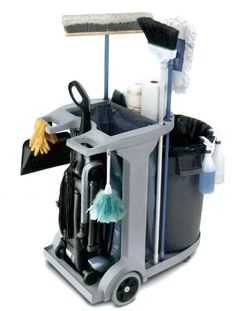 Janitor Cleaning Cart - With a place for the vacuum!!                                                                                                                                                                                 More