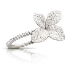 Giardini Segreti Petite Diamond Ring Women's Jewelry, Jewelery, Elements Of Nature, Floral Motif, Frosting, Heart Ring, Engagement Rings, Diamond, Antiques