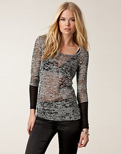 TOPPER - SELECTED FEMME / NEW LEDRA TOP - NELLY.COM