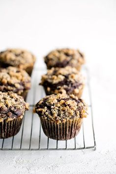 Chocolate Coffee Toffee Crunch Muffins feature a mocha muffin base that's studded with chocolate chips and topped with a crunchy toffee streusel for the best combination of flavor and texture!