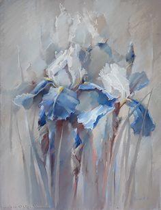 Olga Abramova - Iris. Pastel on Paper