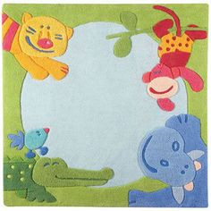 Jungle Area Rug - this is great for a gender-neutral nursery! #oompatoys #habausa