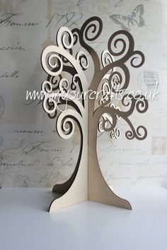 Can be used for Christening,wedding guest Book, Easter, Birthday, Christmas or Craft display. Cardboard Tree, 3d Tree, Family Wishes, Tree Templates, Arts And Crafts, Paper Crafts, Wooden Tree, Tree Sculpture, Family Christmas