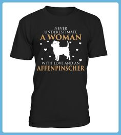 A Woman With Love and An Affenpinscher Funny Gifts Tshirt (*Partner Link)