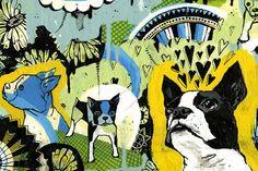 Boston Terrier art by Gina Triplett