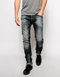United Colors Of Benetton Skinny Fit Jeans With Blasting Asos £33