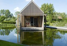 Wooden house on the water