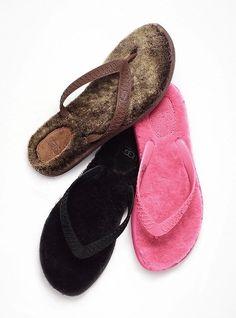 UGG Australia Fluffie Flip-flop  Slip into softness. Soft rubber straps. Fleece footbed. Imported sheepskin.  $45