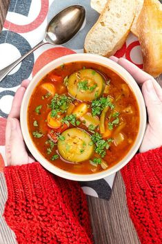 This Instant Pot vegetable soup recipe features a cozy blend of vegetables in a delicious tomato broth. This vegetarian soup recipe makes a tasty meal you will feel good about eating and serving to your family any time. With the help of your pressure cooker, you can make it in a fraction of the time and still get that slowly simmered taste everyone loves. Good Food, Yummy Food, Superfood Recipes, Vegetable Soup Recipes, Vegetarian Soup, Cherry Tomatoes, Chana Masala, Green Beans
