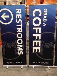 Mosiac Church (Eugene OR) chose to use ECONOMY Stand-Up banners for their church Launch. Quantity Discounts available.