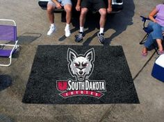 South Dakota USD Coyotes 5x8 In/Out Door Ulti-Mat Tailgate Area Rug/Carpet