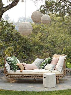 cozy outdoor settee