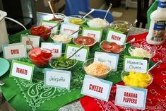 Hot Dog Bar Ideas Thats What {Che} Said Hi Here we have nice photo about hot dog toppings bar. We hope these photos can be your lively insp. Burger Party, Grill Party, Bbq Party, Diner Party, Bbq Grill, Beach Party, Hot Dog Bar, Hot Dog Toppings, Adoption Party