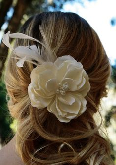 #weddinghair  Sometimes a beautiful clip is all you need.
